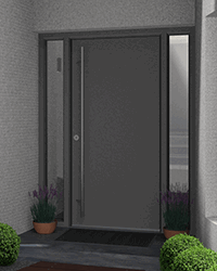 Aluminium Double Glazed Front Door
